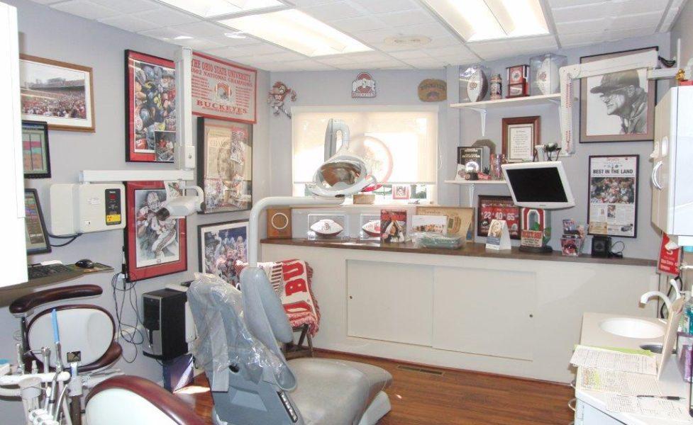 Dr. Sulken's OSU Themed Patient Room - Fostoria Dentist