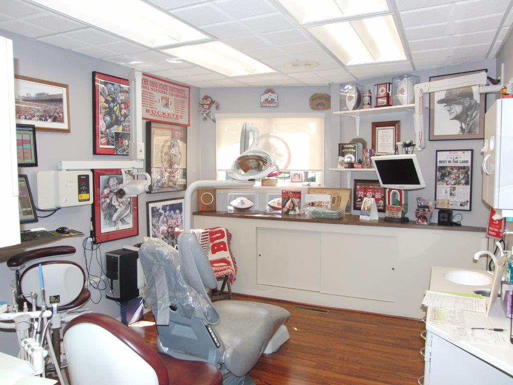 Dr. Sulken's OSU Themed Patient Room - Fostoria Dentist