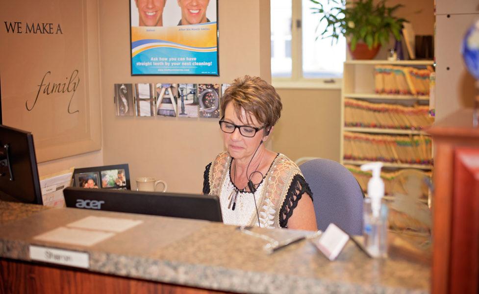 Sharon At The Front Desk - Fostoria Dentist